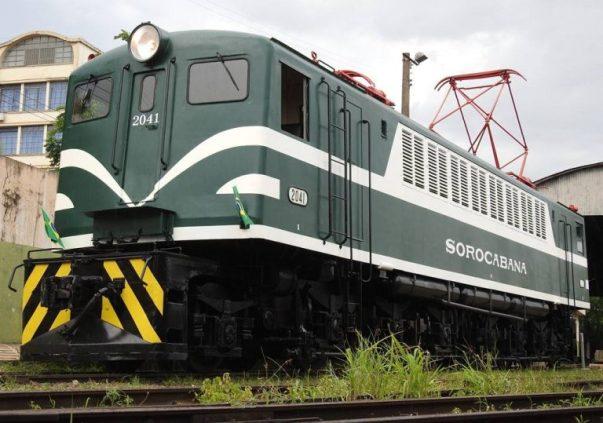 Locomotiva restaurada Sorocaba
